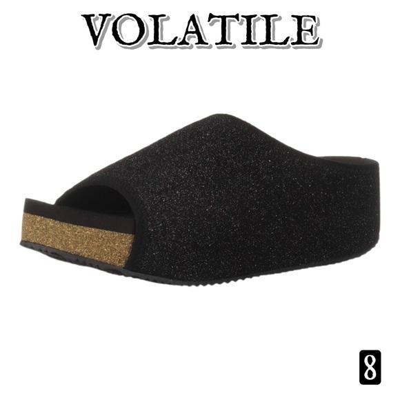 Volatile Festina Metallic Platform Sandals 8
